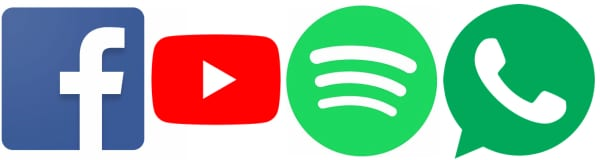 facebook-youtube-spotify-whatsapp-logo