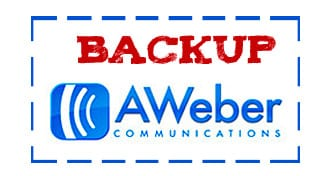 Aweber Backup list, per salvarti dal crash!